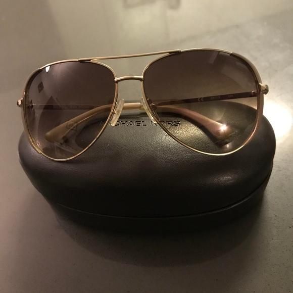 Michael Kors Women Aviator Sunglasses Brown